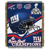 "New York Giants ""Commemorative"" Woven Tapestry Throw"