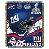"New York Giants NFL ""Commemorative"" Woven Tapestry Throw"