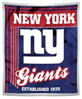 "New York Giants ""Old School"" Mink with Sherpa Throw"