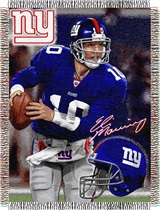 "New York Giants ""Players"" Eli Manning Woven Tapestry Throw"