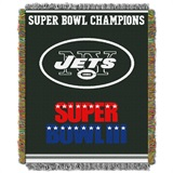"New York Jets ""Commemorative"" Woven Tapestry Throw"