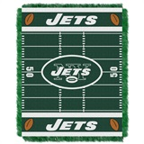 "New York Jets ""Field"" Baby Woven Jacquard Throw"