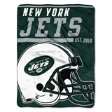 "New York Jets NFL ""40 yard Dash"" Micro Raschel Throw"