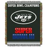 "New York Jets NFL ""Commemorative"" Woven Tapestry Throw"