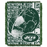 "New York Jets NFL ""Double Play"" Woven Jacquard Throw"