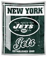 "New York Jets ""Old School"" Mink with Sherpa Throw"