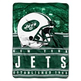 "New York Jets ""Stacked"" Silk Touch Raschel Throw"