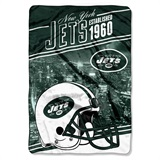 "New York Jets ""Stagger"" Micro Raschel Throw"