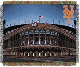 "New York Mets  MLB ""Citi Field"" Stadium Tapestry Throw"