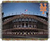 "New York Mets MLB "" Citi Field"" Stadium Woven Tapestry Throw"