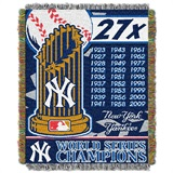 "New York Yankees MLB ""Commemorative Woven Tapestry Throw"