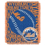 "New York Mets MLB ""Double Play"" Woven Jacquard Throw"