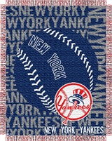 "New York Yankees MLB ""Double Play"" Woven Jacquard Throw"