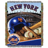 "New York Mets MLB ""Home Field Advantage"" Woven Tapestry Throw"