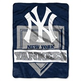 "New York Yankees MLB ""Home Plate"" Raschel Throw"
