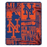 "New York Mets MLB ""Strength"" Fleece Throw"