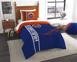 New York Mets MLB Twin Comforter and Sham set