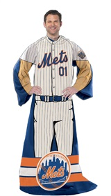 "New York Mets MLB ""Uniform"" Adult Comfy Throw"