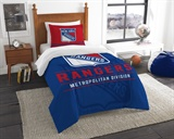"New York Rangers NHL ""Draft"" Twin Comforter Set"