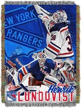 New York Rangers NHL Hendrik Lundqvist Woven Tapestry Throw