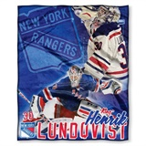New York Rangers NHL Henrik Lundqvist Player Silk Touch Throw