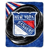 "New York Rangers NHL ""Puck"" Sherpa Throw"