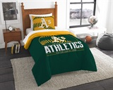 "Oakland Athletics MLB ""Grand Slam"" Twin Comforter Set"
