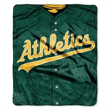 "Oakland Athletics MLB ""Jersey"" Raschel Throw"