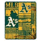 "Oakland Athletics MLB ""Strength"" Fleece Throw"