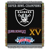 "Oakland Raiders ""Commemorative"" Woven Tapestry Throw"