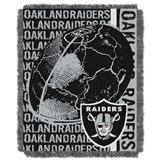 "Oakland Raiders ""Double Play"" Woven Jacquard Throw"