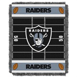 "Oakland Raiders ""Field"" Baby Woven Jacquard Throw"