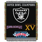 "Oakland Raiders NFL ""Commemorative"" Woven Tapestry Throw"