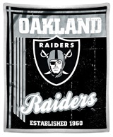 "Oakland Raiders ""Old School"" Mink with Sherpa Throw"