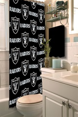 Oakland Raiders Shower Curtain