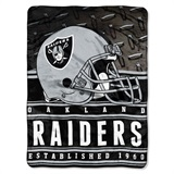 "Oakland Raiders ""Stacked"" Silk Touch Raschel Throw"