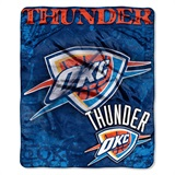 "Oklahoma City Thunder NBA ""Dropdown"" Raschel Throw"