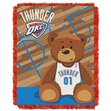 "Oklahoma City Thunder NBA ""Half-Court"" Baby Woven Jacquard Throw"