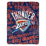 "Oklahoma City Thunder NBA ""Redux"" Micro Raschel Throw"