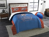 "Oklahoma City Thunder NBA ""Reverse Slam"" Full/Queen Comforter"