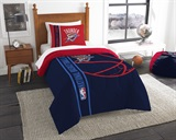 Oklahoma City Thunder NBA Twin Comforter and Sham Set
