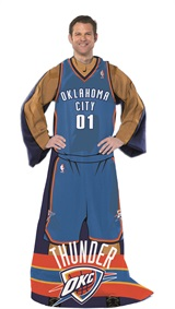 "Oklahoma City Thunder NBA ""Uniform"" Adult Comfy Throw"