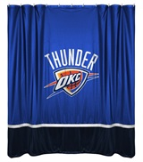 Oklahoma City Thunder Sidelines Shower Curtain