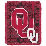 "Oklahoma Sooners ""Double Play"" Woven Jacquard Throw"