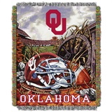 "Oklahoma Sooners ""Home Field Advantage"" Woven Tapestry Throw"
