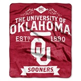 "Oklahoma Sooners ""Label"" Raschel Throw"