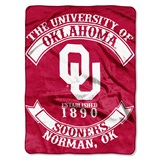 "Oklahoma Sooners ""Rebel"" Raschel Throw"