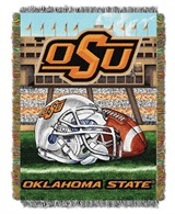 "Oklahoma State Cowboys NCAA ""Home Field Advantage"" Woven Tapestry Thro"