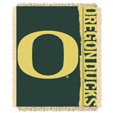 "Oregon Ducks NCAA ""Double Play"" Woven Jacquard Throw"