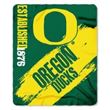 "Oregon Ducks NCAA ""Painted"" Fleece Throw"